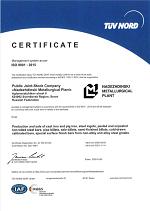 Сертификат ISO 9001 английский